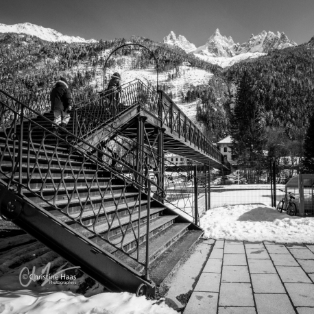 Toward Montenvers train station, Chamonix, photo by Christine Haas
