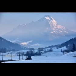 Photo of an icy morning in the Bauges Front in the French Alps, by Christine Haas