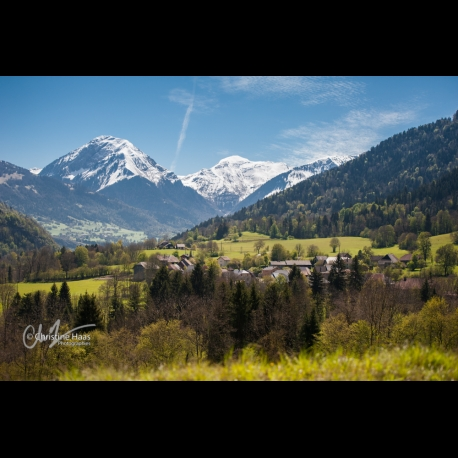 Spring colors in the Bauges Front in the French Alps, by Christine Haas