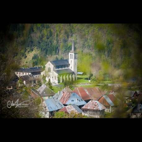 Village of Jarsy in the Bauges in the French Alps, by Christine Haas