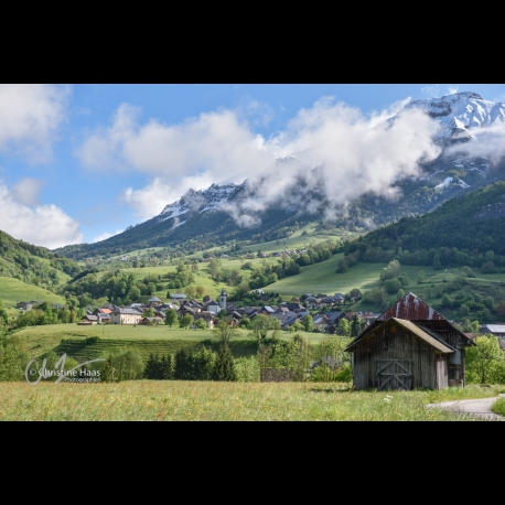 Village of La Compote in the Bauges in the French Alps
